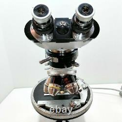 CARL ZEISS WL Polarizing Petrographic Microscope Stereo POL Objectives NICE #613