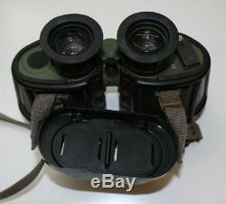 Carl Zeiss Jena DF 7x40 NVA Military Binoculars With Reticle & Yellow Filter