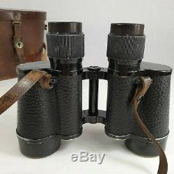 Carl Zeiss Jena Delactis 8X40 Pair Of Binoculars In Leather Case Small Chip Lens