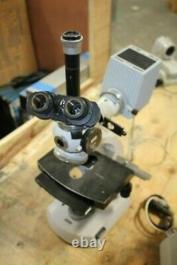 Carl Zeiss Microscope With Binocular and Lamp