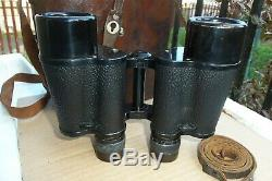 Vintage Carl Zeiss Jena 16x40 Telsexor Binoculars Leather Case and Straps